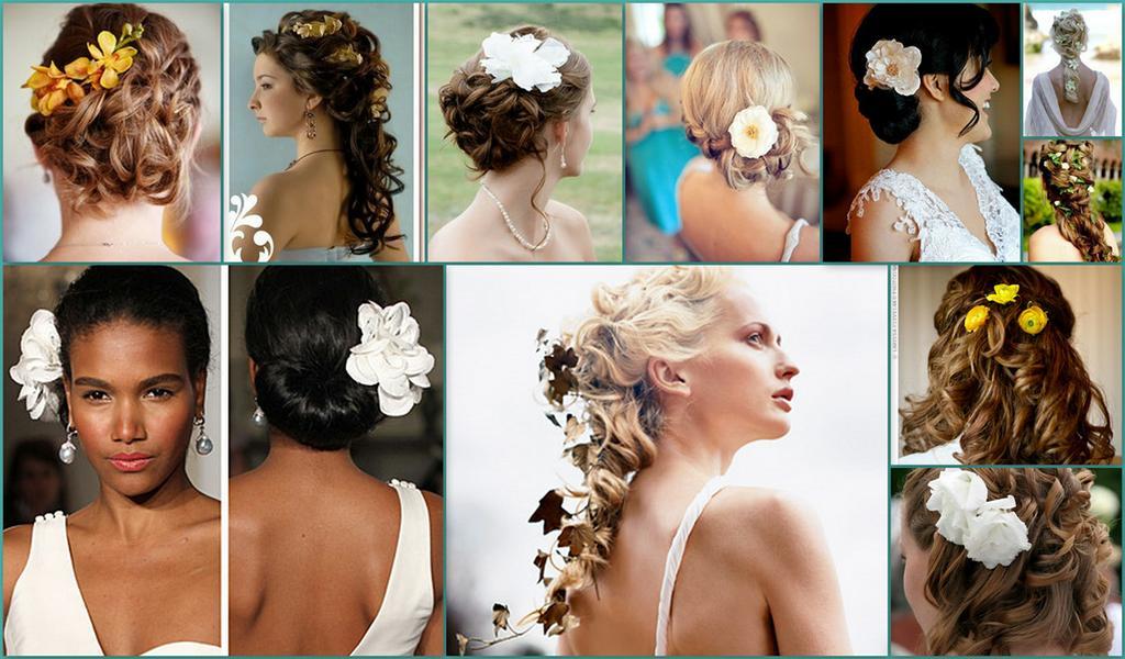 ...прическа в виде двух цветков. свадебные причёски на средние волосы. коса-бохо фото. повязка фиксирующая на голову.