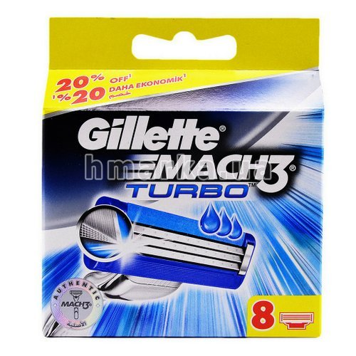 Фото Картриджі для станка Gillette Mach 3 Turbo, 8 шт. № 2