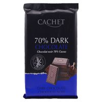 "Шоколад экстра чорный CACHET ""Dark Chocolate"", 70 % кaкao, 300 г"