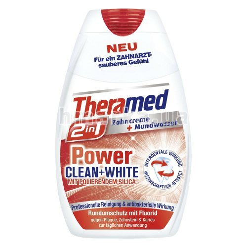 "Фото Зубна паста Theramed ""Power Clean+White"", 75 мл № 1"