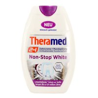 "Зубна паста + рідина для полоскання рота Theramed ""Non-Stop White"", 75 мл"