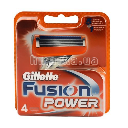 Фото Картриджи для станка Gillette Fusion Power, 4 шт. № 2