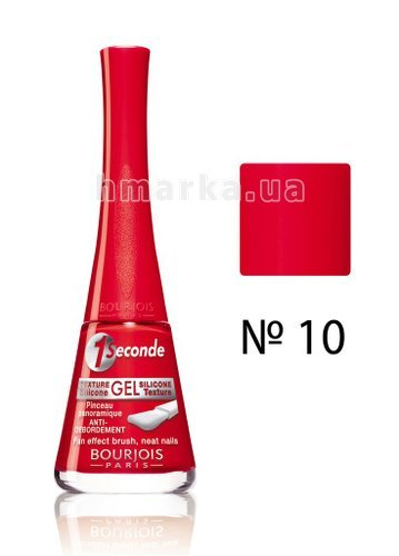 Фото Лак для нігтів Bourjois 1 SECONDE, № 10 кораловий, 9 мл № 1