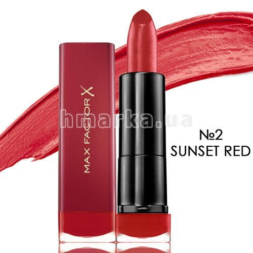 Фото Зволожуюча помада для губ Max Factor COLOUR ELIXIR MARILYN № 02, SUNSET RED, 4 г № 1