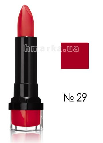 Фото Помада Bourjois ROUGE EDITION 12Н стойкая помада, № 29 алый, 3,5 г № 1